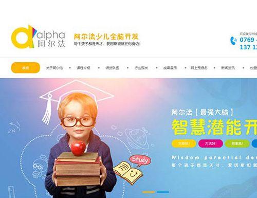 阿尔法少儿全脑开发网站设计与开发